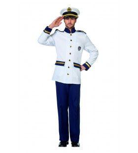 Onberispelijke Kapitein Oorlogsvloot Man Kostuum