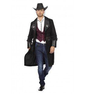 Lange Jas Bounty Hunter Cowboy Man