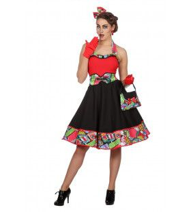 Pop Art Roy Strip Vrouw Kostuum