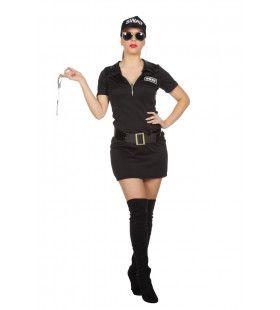 Hier Met Je Handen Swat Agente Vrouw Kostuum