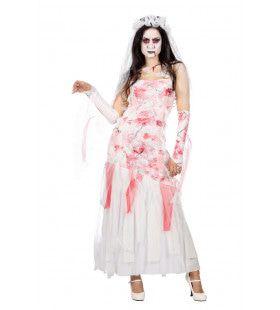 Vechtscheiding Zombie Bruid Vrouw Kostuum