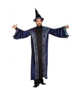 Tovenaar Magische Sterren En Maan Man Kostuum