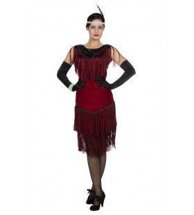 Fatale Flapper Fabienne Jaren 20 Vrouw Kostuum