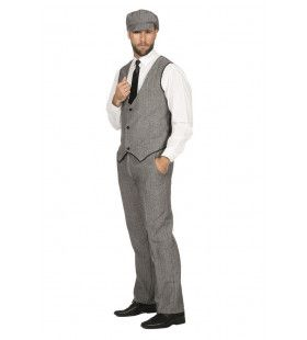 Roaring 20s Set Grijs Thomas Peaky Man Kostuum