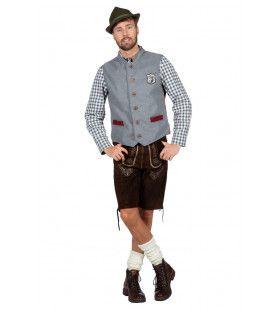 Hirsch Oktoberfest Vest Grijs Man