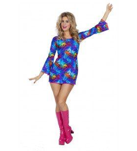 Atomic Meidengroep Jaren 80 Disco Vrouw Kostuum