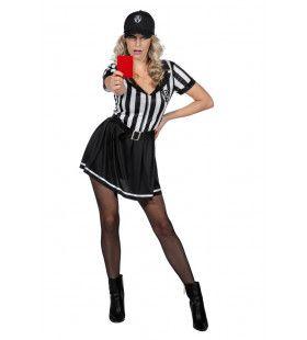 Sexy Streng En Onrechtvaardige Scheidsrechter Vrouw Kostuum