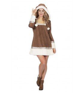 Sexy Laat De IJskappen Smelten Eskimo Vrouw Kostuum