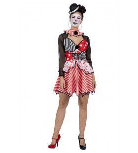 Bloedspetter Halloween Griezel Clown Vrouw Kostuum