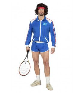 Jaren 80 Grand Slam Tennis Kampioen Man Kostuum