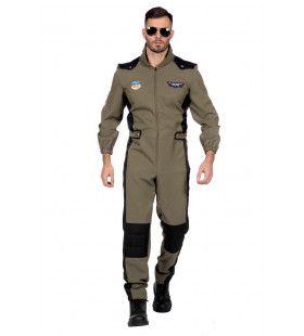 Maverick Top Piloot F35 Straaljager Man Kostuum