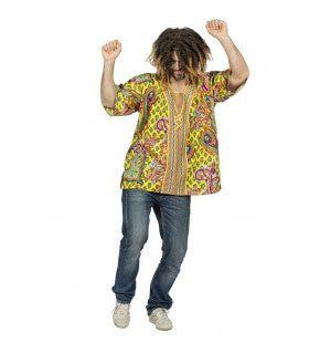 Woodstock Hippie Paisley Blouse Man
