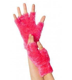 Knuffel Zachte Vingerloze Handschoenen Roze