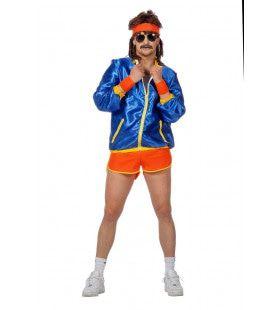 Retro Jaren 80 Disco Fitness Man Kostuum