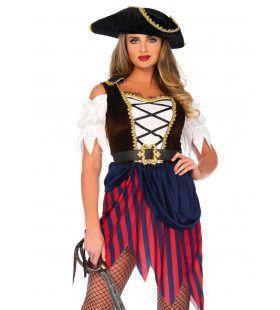 Hoog Water Pirate Vrouw Kostuum