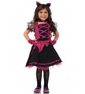 Wonderland Rock-N-Roll Kitty Meisje Kostuum