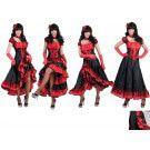 Fantastische Fanny Texas Saloon Vrouw Kostuum