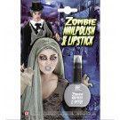 Halloween Zombie Nagellak En Lipstick, Grijs