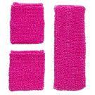 Atletische 80s Zweetband Set, Neon Rose