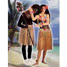 Hawaiirokje Stro Meerkleurig 55 Centimeter Kostuum